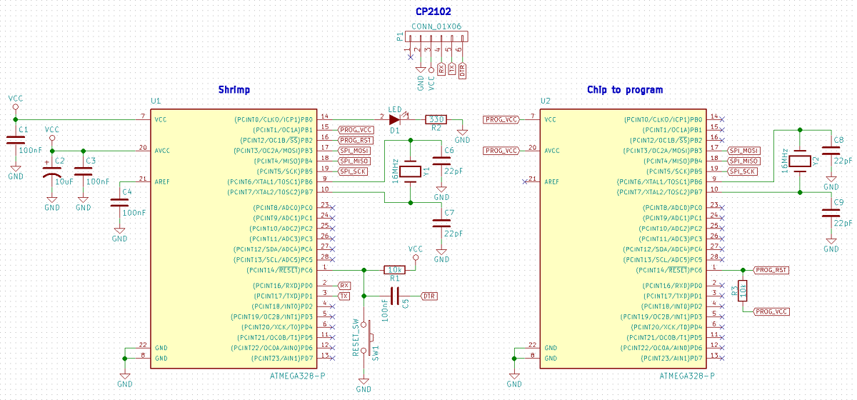 Circuit KiCAD du Shrimp-Optiloader